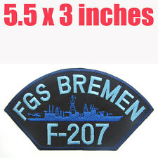 FGS Bremen F 207 GERMAN Navy Military Iron On Patch Marine Corps Frigate Germany