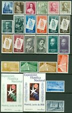 SPAIN : Very nice grouping of singles & Complete sets between 1954-1958. VF MNH.
