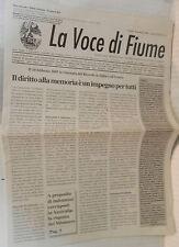LA VOCE DI FIUME 30 Gennaio 2005 Istria Dialetto fiumano a Busalla Milossevich