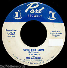 LAFAYETTE and THE LaSABRES-Cure For Love & Free Way-Soul DooWop 45-PORT #70036
