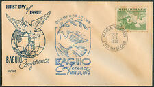 1950 Philippines Commemorating BAGUIO CONFERENCE First Day Cover - A