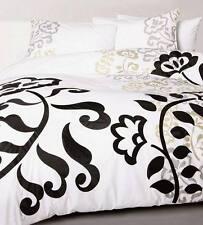 Accessorize CRAFT White Black Applique Double Size Quilt Doona Cover Set