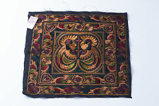 Mocha Bird Hmong Embroidered Fabric Hill Tribe Ethnic Fashion Style Thailand