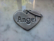 LOVE ONES GUARDIAN ANGEL Watch Over You 1 MEDALLION PEWTER PENDANT ALL NEW.