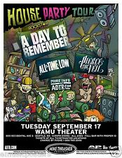 A DAY TO REMEMBER/ALL TIME LOW/PIERCE THE VEIL 2013 SEATTLE CONCERT TOUR POSTER