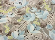 "P KAUFMANN AVERY SKY FLORAL UPHOLSTERY DRAPERY FABRIC BY THE YARD 54"" WIDE"
