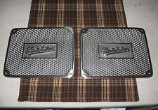 Polished aluminum Studebaker running board step plates hot rat street rod