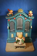 "ERZGEBIRGE Wendt Kuhn THORENS Music Box ""Angel Organ"" Carved Wood East Germany"