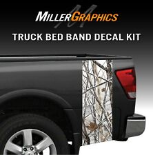 Snowstorm Hunting Camo Truck Bed Band Stripe Decal Graphic Sticker Kit