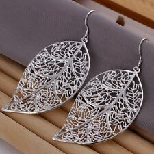 New Women 925 Sterling Silver Plated Dangle Statement Tree Earring Studs Jewelry