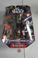2005 Star Wars Transformers OBI-WAN KENOBI Starfighter Figure MOC MISB Jedi NM
