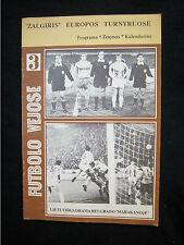 Orig.PRG   UEFA Cup  1989/90   ZALGIRIS VILNIUS - ROTER STERN BELGRAD  !  SELTEN