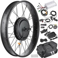 "48V 1000W Front Fat Tire Electric Bike eBike Conversion Kit 26""/3 1/4"" Width Rim"