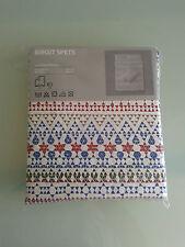 IKEA Birgit Spets Swedish Print Double Size Duvet Cover & 4P/C