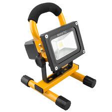 NINETEC 10W LED Flutlicht Fluter Bau Strahler Scheinwerfer wiederaufladbar Gelb