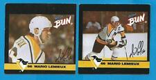 RARE! MARIO LEMIEUX HAND CUT HOCKEY CARD LOT PENGUINS NHL VINTAGE 1992 CLARK BUN