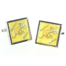 Beware Kangeroos Drinking Cufflinks & Gift Pouch
