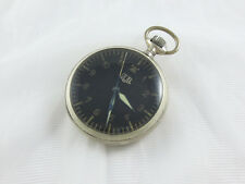 Rare Vintage GUB GLASHUTTE MILITARY SOLID SILVER POCKET WATCH Cal 48.1
