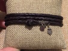 Chan Luu Woven Leather Diamond Hand Charm