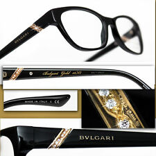 $2,100 BVLGARI Le Gemme GENUINE DIAMONDS / 18K GOLD GLASSES w/ Certificate