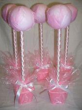 5 x Kits de mano hecha a mano dulce Árbol De Centros De Mesa Bautizo Boda Bebé Rosa
