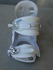 RIGHT FOOT ONLY  Millennium Three snowboard binding women's white & blue s/m