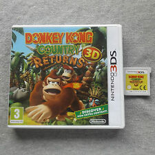 DONKEY KONG COUNTRY RETURNS 3D NINTENDO 3DS V.G.C. FAST POST COMPLETE