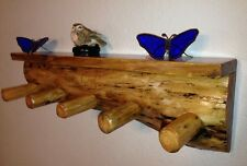 Rustic Shelf Coat Rack/ Cabin / Log Furniture / Wood Shelf / Shelving/Lodge
