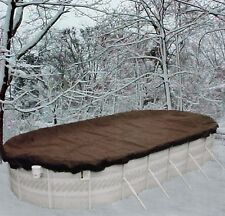 12'x24' Oval Above Ground Winter Swimming Pool Solid Cover 10 Yr Warranty solid
