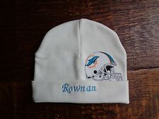 Miami Dolphins  Personalized Baby Hat (0-2 year)