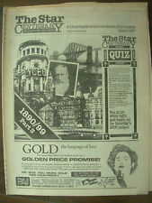 VINTAGE NEWSPAPER SHEFFIELD STAR CENTENARY MARCH 1987 PART 3 - 1890-1899