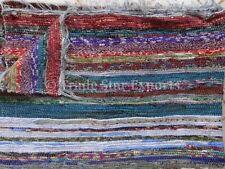 Hand Loomed Indian Rag Rug Ethnic Carpet Runner Reversible Dhurrie Boho Throw