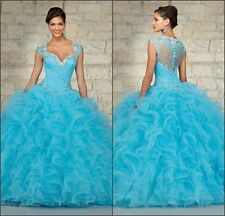 New Beaded Quinceanera Dress Formal Prom Party Ball Gown Bridal Wedding Dresses