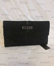 NWT GUESS  WALLET ... BLACK COLOR... GROUP TAMBAKO SLG