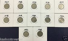 Malaysia 1967-1988 10 sen Parliament House Coin (12pcs) Excluding 1971