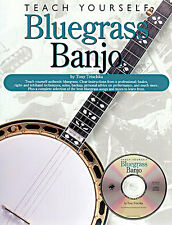 Teach Yourself Bluegrass Banjo Tony Trischka BK CD NEW
