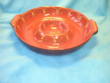 """BF Chip and Dip Dish Brown and Yellow Oven, Microwave, and Dishwasher Safe 13"""""""