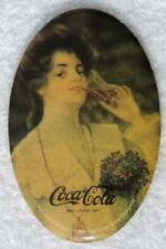 "1984 USA REPRO COCA-COLA VICTORIAN WOMAN HANDHELD POCKET MIRROR 2-3/4"" x 1-3/4"""