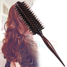 Wooden Handle Anti-static Curly Hair Comb Size Large Hairdressing Round Brush TP
