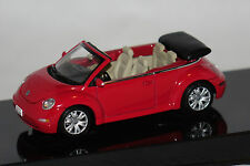 VW NEW BEETLE CABRIO ROSSO 1:43 Autoart NUOVO & OVP 59757