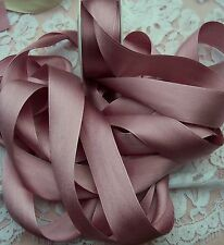 "100% PURE SILK /SATIN RIBBON ~ANTIQUE/ROSE ~COLOR 5 1/2 YD SPOOL 1"" [25MM] WIDE"