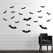 DIY PVC Bat Wall Sticker Decal Home Halloween Festival Decoration