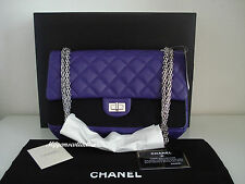 NWT CHANEL 2.55 Reissue classic flap 226 medium size purple lambskin silver HW