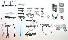 LOT OF 40 STAR WARS WEAPONS, LIGHTSABERS GUNS, BLASTERS AND ACCESSORIES