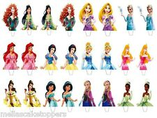 24  x Disney Princess Mix  Edible Wafer Paper Cake Cupcake Fairy  Toppers