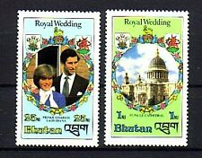 Bhutan Michelnummer 756 + 759 postfrisch (Royal Wedding 2)