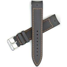 Hamilton 21mm Black/Orange Rubber Khaki GMT Air Race Watch band H600776118