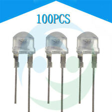 100X 8mm 0.5W Straw hat white LED High-power Emitting Diode Light NEW GT