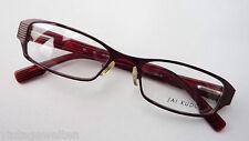 Jai Kudo weinrote Brillenfassung Damen Metall Acetatfederbügel schmal geradeGR M