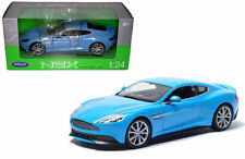 WELLY ASTON MARTIN VANQUISH BLUE 1/24 DIECAST MODEL CAR 24046